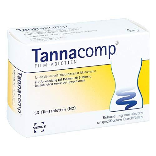 Tannacomp Filmtabletten bei Durchfall, 50 St. Tabletten